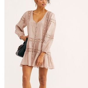 Free People One Glow Bohemian Mini Dress